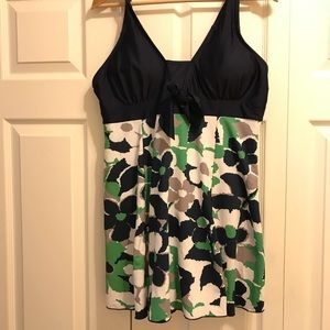 Other - Navy and Green Swimdress
